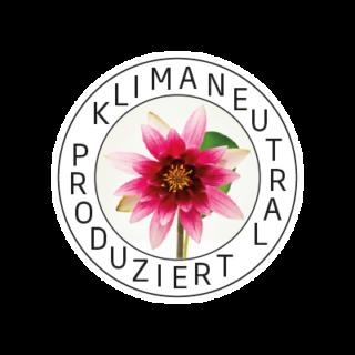 Logo Klimaneutral Kampagne Blume