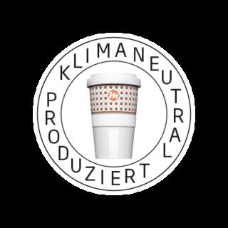 Logo Klimaneutral Kampagne Coffe to go Becher
