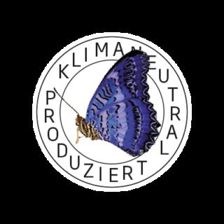 Logo Klimaneutral Kampagne Schmetterling