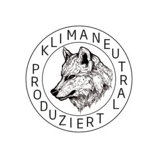 Logo Klimaneutral Kampagne Wolf