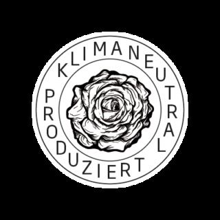 Logo Klimaneutral Kampagne Rose