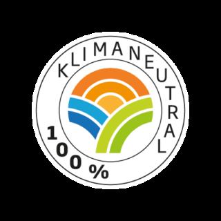 Logo Klimaneutral Kampagne 100 %