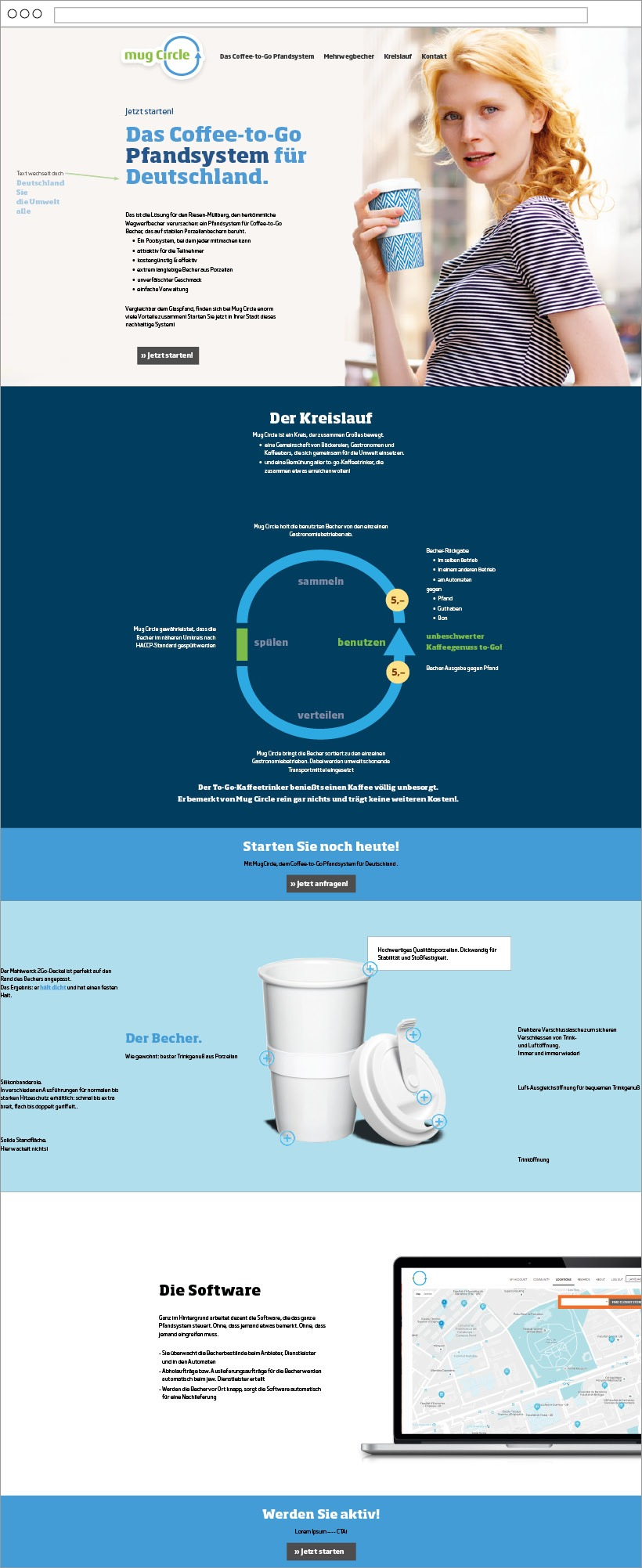 Mug Circle mehrweg website design von Ingo Moeller