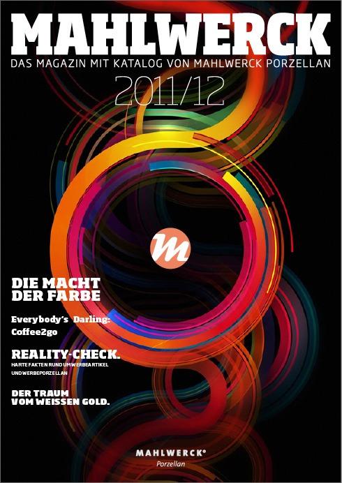 Katalog Mahlwerck-Porzellan 2011 Cover mit Punkte-Design als Markenelement