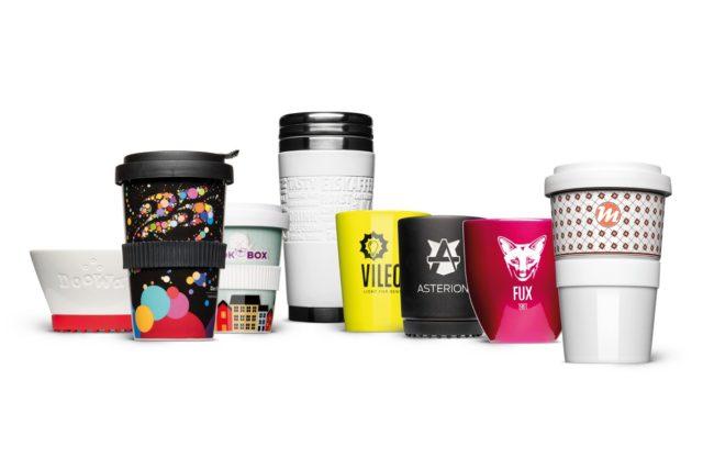 Markenprodukt Porzellan Tassen und Coffee to go Becher
